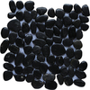 Marble Systems 10-Pack 12-in x 12-in Black Pebbles Natural Stone Wall Tile