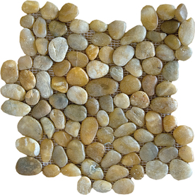 Marble Systems 10-Pack 12-in x 12-in Gold Pebbles Natural Stone Wall Tile