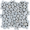 Marble Systems 10-Pack 12-in x 12-in White Pebbles Natural Stone Wall Tile