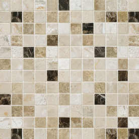 Marble Systems 6-Pack 12-in x 12-in Multicolor Natural Stone Wall Tile