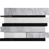 Marble Systems 5-Pack 12-in x 12-in Multicolor Natural Stone Wall Tile