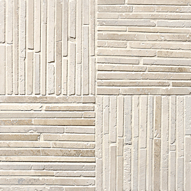 Marble Systems 5-Pack 16-in x 16-in Beige Travertine Natural Stone Wall Tile