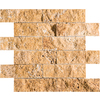 Marble Systems 3-Pack 12-in x 12-in Gold Travertine Natural Stone Wall Tile