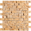 Marble Systems 5-Pack 12-in x 12-in Gold Travertine Natural Stone Wall Tile