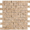 Marble Systems 5-Pack 12-in x 12-in Brown Travertine Natural Stone Wall Tile