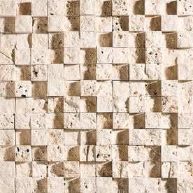 Marble Systems 3-Pack NBS Ivory Natural Stone Mosaic  Wall Tile (Common: 12-in x 12-in; Actual: 12-in x 12-in)
