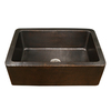 HOUZER Hammerwerks 22-in x 32-in Antique Copper Single-Basin Apron Front/Farmhouse Residential Kitchen Sink