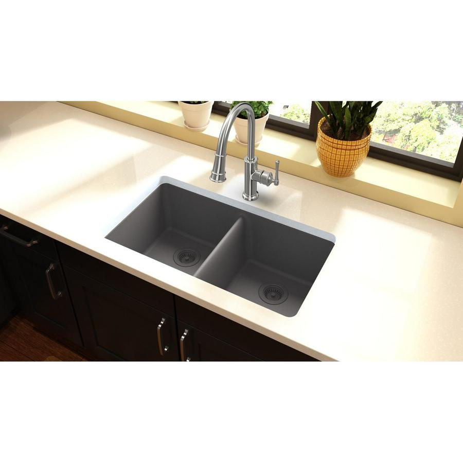 Shop HOUZER Contempo 18-Gauge Single-Basin Undermount Stainless Steel ...