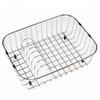 HOUZER 19.25-in W x 14.25-in L x 5.5-in H Metal Dish Rack and Drip Tray