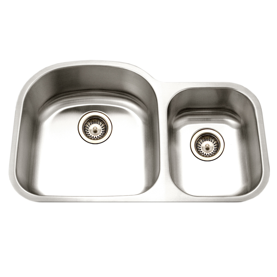 16 Gauge Stainless Steel Sink : ... 16-Gauge Double-Basin Undermount Stainless Steel Kitchen Sink at Lowes