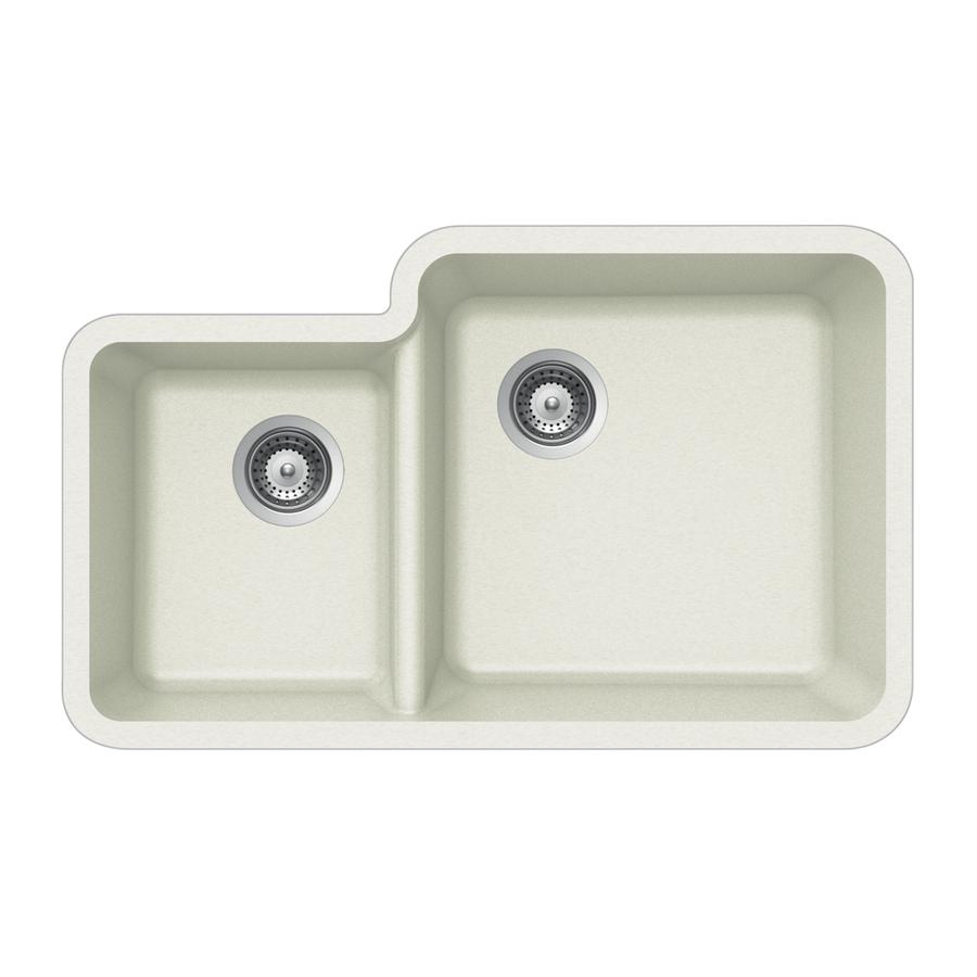 Houzer Sinks : Shop HOUZER Alpina Double-Basin Granite Undermount Kitchen Sink at ...