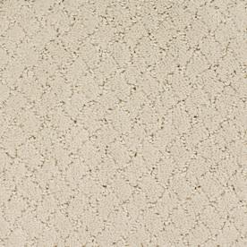 STAINMASTER TruSoft Galesburg Cream/Beige/Almond Cut and Loop Indoor Carpet