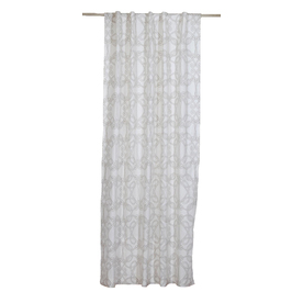 allen + roth 84-in L Beige Back Tab Curtain Panel