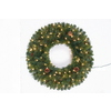 Holiday Living 30-in Indoor/Outdoor Artificial Wreath with Clear Lights
