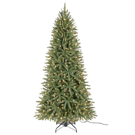 Holiday Living 6.5-ft Pine Pre-lit Artificial Christmas Tree with 400-Count Clear Lights
