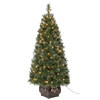 Holiday Living 4-ft Indoor/Outdoor Pine Pre-lit Decorative Artificial Tree with 150-Count Clear Lights