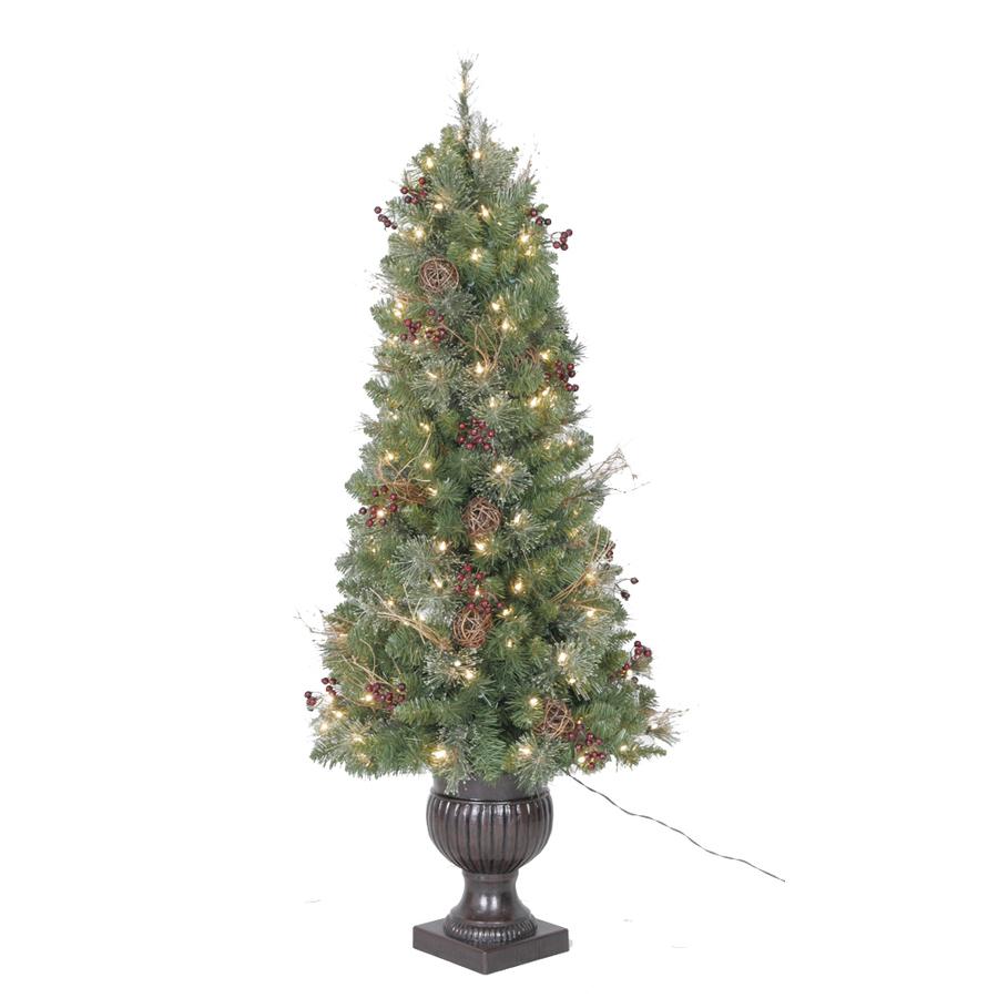 Holiday living 5 ft indoor outdoor fir pre lit decorative artificial