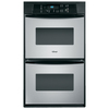 Whirlpool 24-in Self-Cleaning Double Electric Wall Oven (Stainless Steel)