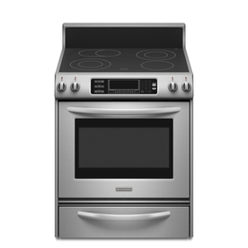 KitchenAid Smooth Surface Freestanding 4.1-cu ft Self-Cleaning Convection Electric Range (Stainless Steel) (Common: 30-in; Actual 29.875-in)