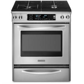 "KitchenAid 30"" Deep Recessed Dual Fuel Range (Color: Stainless Steel)"