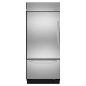 KitchenAid Architect II 20.8-cu ft Built-In Bottom-Freezer Refrigerator with Single Ice Maker (Stainless Steel) ENERGY STAR