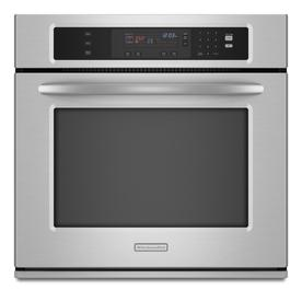 KitchenAid Self-Cleaning Single Electric Wall Oven (Stainless Steel) (Common: 30-in; Actual 29.75-in)