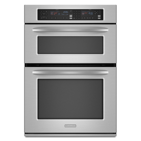 KitchenAid Self-Cleaning Microwave Convection Microwave Wall Oven Combo (Stainless) (Common: 30-in; Actual: 29.75-in)