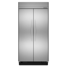 KitchenAid Architect Ii 30-cu ft Built-in Side-By-Side Refrigerator with Single Ice Maker (Stainless Steel)