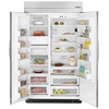 KitchenAid 30-cu ft Built-in Side-By-Side Refrigerator with Single Ice Maker (Brushed Aluminum Trim/Panel-Ready)