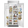 KitchenAid Architect Ii 20.8-cu ft Built-in Side-By-Side Refrigerator with Single Ice Maker (Stainless Steel)