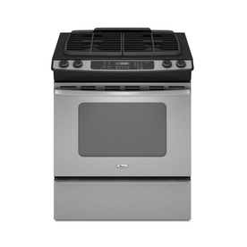 Whirlpool 30-in 4.5 cu ft Self-Cleaning Slide-In Gas Range (Stainless Steel)