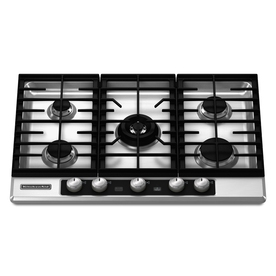 KitchenAid Architect II 5-Burner Gas Cooktop (Stainless) (Common: 30-in; Actual 30.188-in)