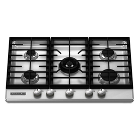 KitchenAid Architect II 5-Burner Gas Cooktop (Stainless) (Common: 30-in; Actual 30.1875-in)