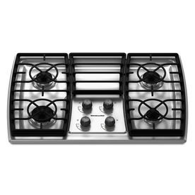 KitchenAid Architect II 4-Burner Gas Cooktop (Stainless) (Common: 30-in; Actual 31.438-in)