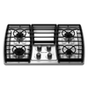KitchenAid Architect II 4-Burner Gas Cooktop (Stainless Steel) (Common: 30-in; Actual: 31.438-in)
