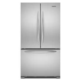 KitchenAid Architect II 21.8-cu ft Counter-Depth French Door Refrigerator with Single Ice Maker (Monochromatic Stainless Steel) ENERGY STAR