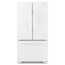 KitchenAid Architect II 21.8-cu ft Counter-Depth French Door Refrigerator with Single Ice Maker (White) ENERGY STAR