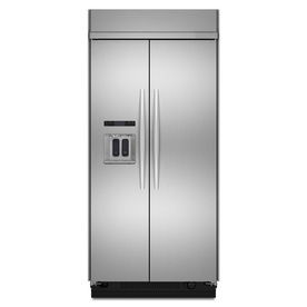 KitchenAid Architect Ii 25.02-cu ft Built-in Side-By-Side Refrigerator with Single Ice Maker (Stainless Steel) ENERGY STAR