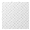 Gladiator 12-in x 12-in White Tread Plate Garage Vinyl Tile