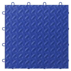 Gladiator 12-in x 12-in Blue Tread Plate Garage Vinyl Tile
