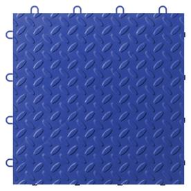 Gladiator 24-Piece 12-in x 12-in Blue Tread Plate Garage Floor Tile