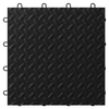 Gladiator 24-Piece 12-in x 12-in Black Tread Plate Garage Floor Tile