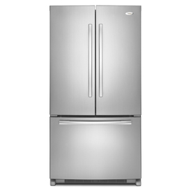 Whirlpool Gold 24.8-cu ft French Door Refrigerator with Single Ice Maker (Monochromatic Stainless Steel) ENERGY STAR