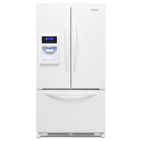 KitchenAid Architect II 19.8-cu ft Counter-Depth French Door Refrigerator with Single Ice Maker (White) ENERGY STAR