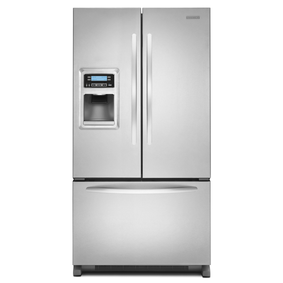 Shop Kitchenaid 20 8 Cu Ft Built In French Door: Shop KitchenAid Architect II 19.8-cu Ft Counter-Depth French Door Refrigerator With Single Ice