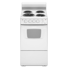 Amana Freestanding 2.6-cu ft Electric Range (White) (Common: 20-in; Actual: 19.5-in)