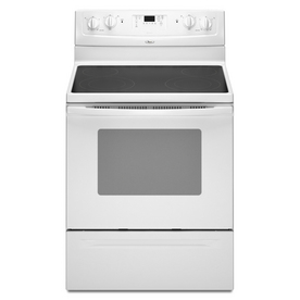 """Whirlpool 30"""" Smooth Surface Freestanding Electric Range (Color: White)"""