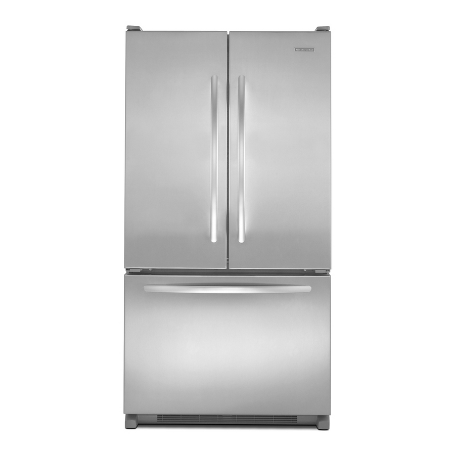 Shop kitchenaid architect ii 19 6 cu ft french door for 19 5 cu ft french door refrigerator