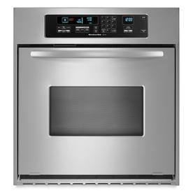 KitchenAid Architect Self-Cleaning Convection Single Electric Wall Oven (Stainless Steel) (Common: 24-in; Actual 23.75-in)