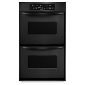 KitchenAid Architect Convection Double Electric Wall Oven (Black) (Common: 24-in; Actual: 23.75-in)